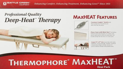 Thermophore MaxHEAT Moist Heating Pad in Canada. Soothing, comforting intense moist heat therapy for painful, sore, aching muscles neck pain, and joints.