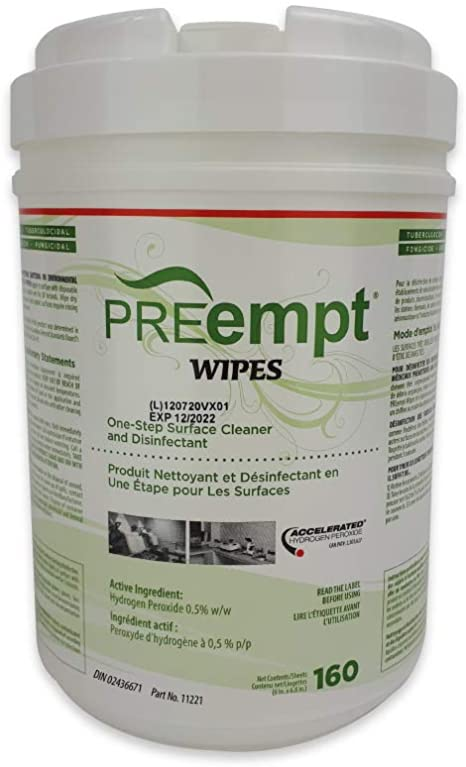 Accel PREempt Disinfecting Wipes