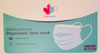 Box of 50 disposable facemasks