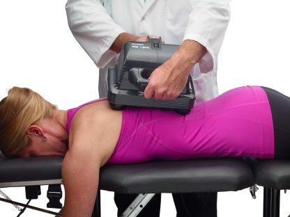 Thumper Maxi Pro on Patient's Back