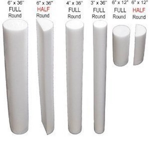 Foam Rollers Full Round and Half Round