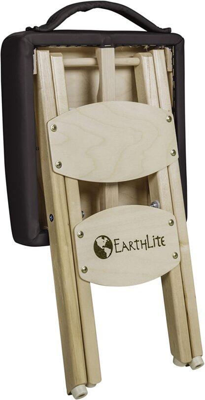 Earthlite folded stool black back