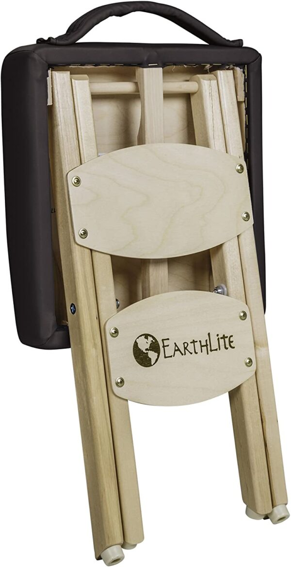 Earthlite folded stool black back