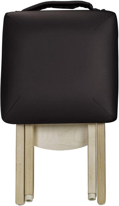 Earthlite folded stool black front