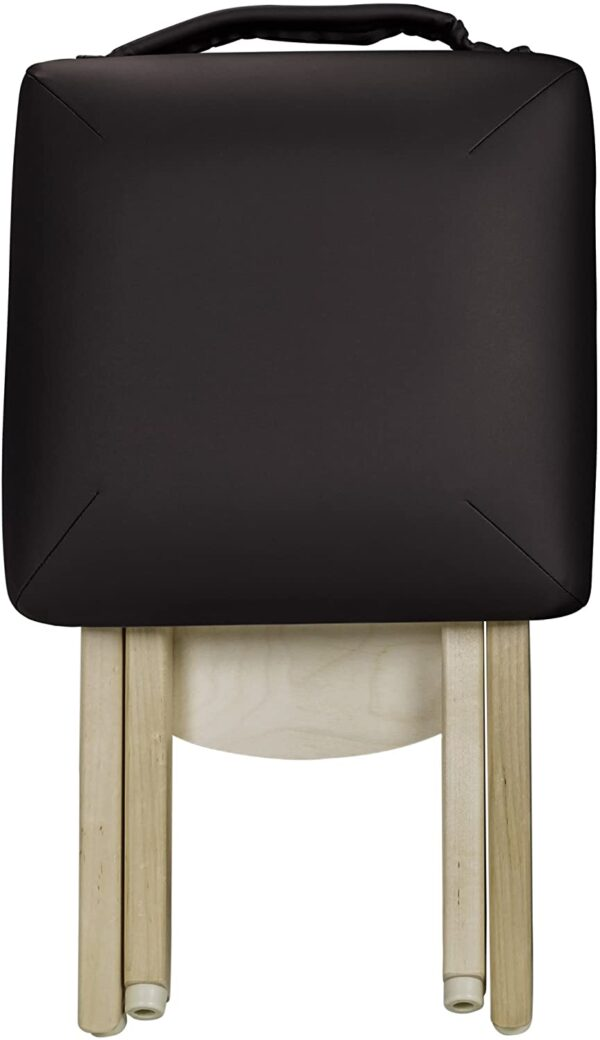 Earthlite folded stool black front
