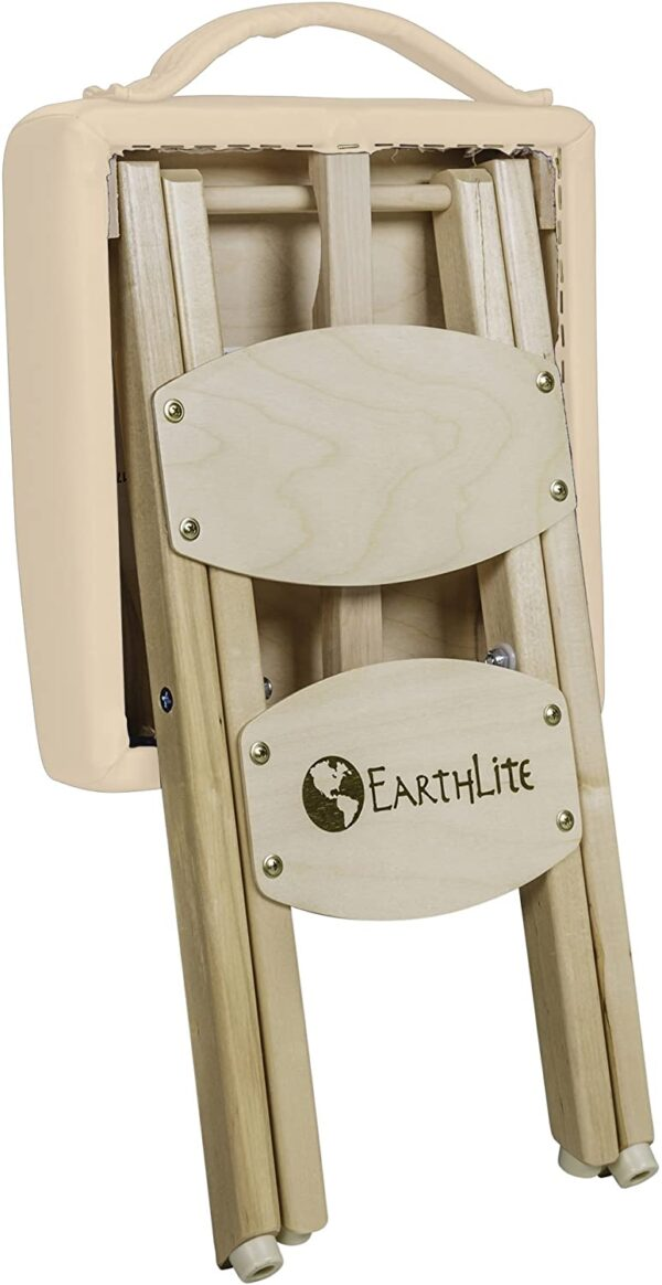 Earthlite folded stool beige back