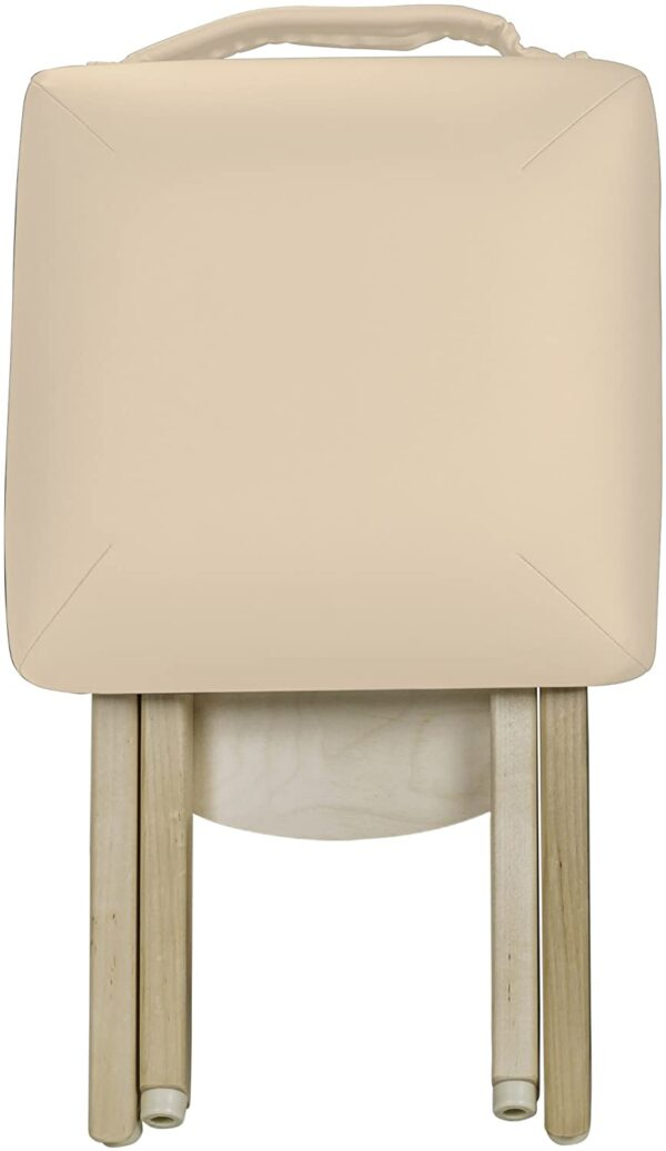 Earthlite folded stool beige front