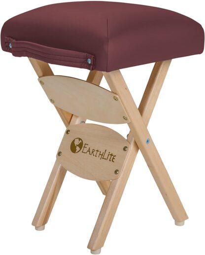 Earthlite folding stool burgundy