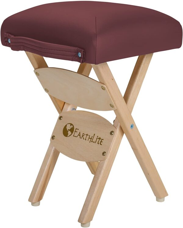 Earthlite folding stool burgundy