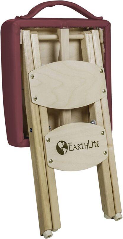 Earthlite folded stool burgundy back