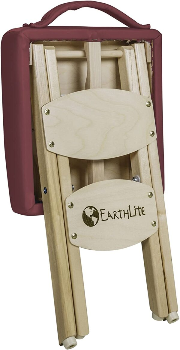 Earthlite folded stool burgundy back