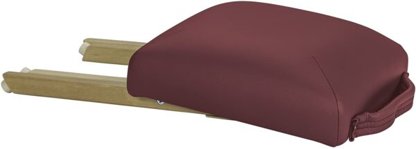 Earthlite folded stool burgundy side