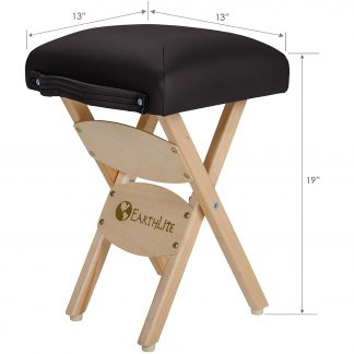 Earthlite Folding Stool Black