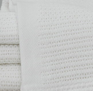 Cotton Thermal Blanket White