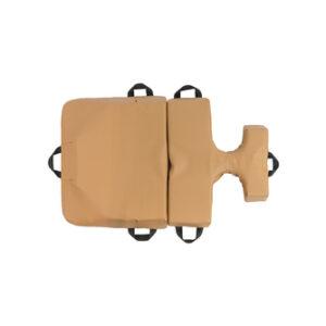 bodyCushion mini cushion with breast protector Tan Top View
