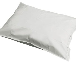 Vinyl pillow case with zipper closure