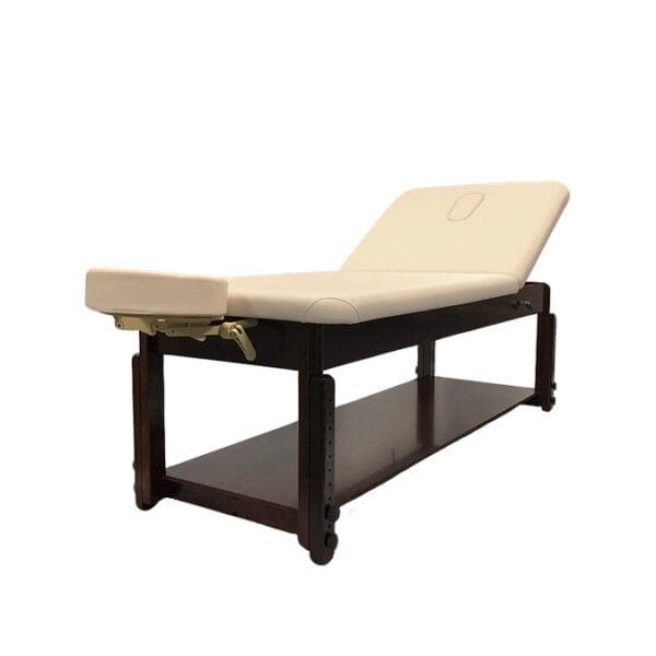 Stationary Liftback Examination & Massage Table with Face Hole - Beige