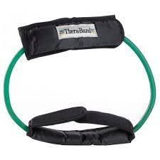 Theraband Latex Tubing with Cuffs - Green