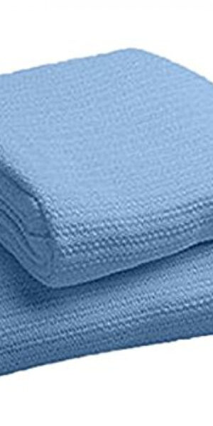 Thermal blanket Cotton blue