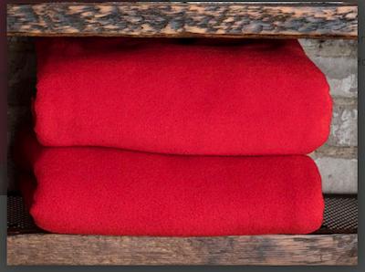 Polar fleece Red